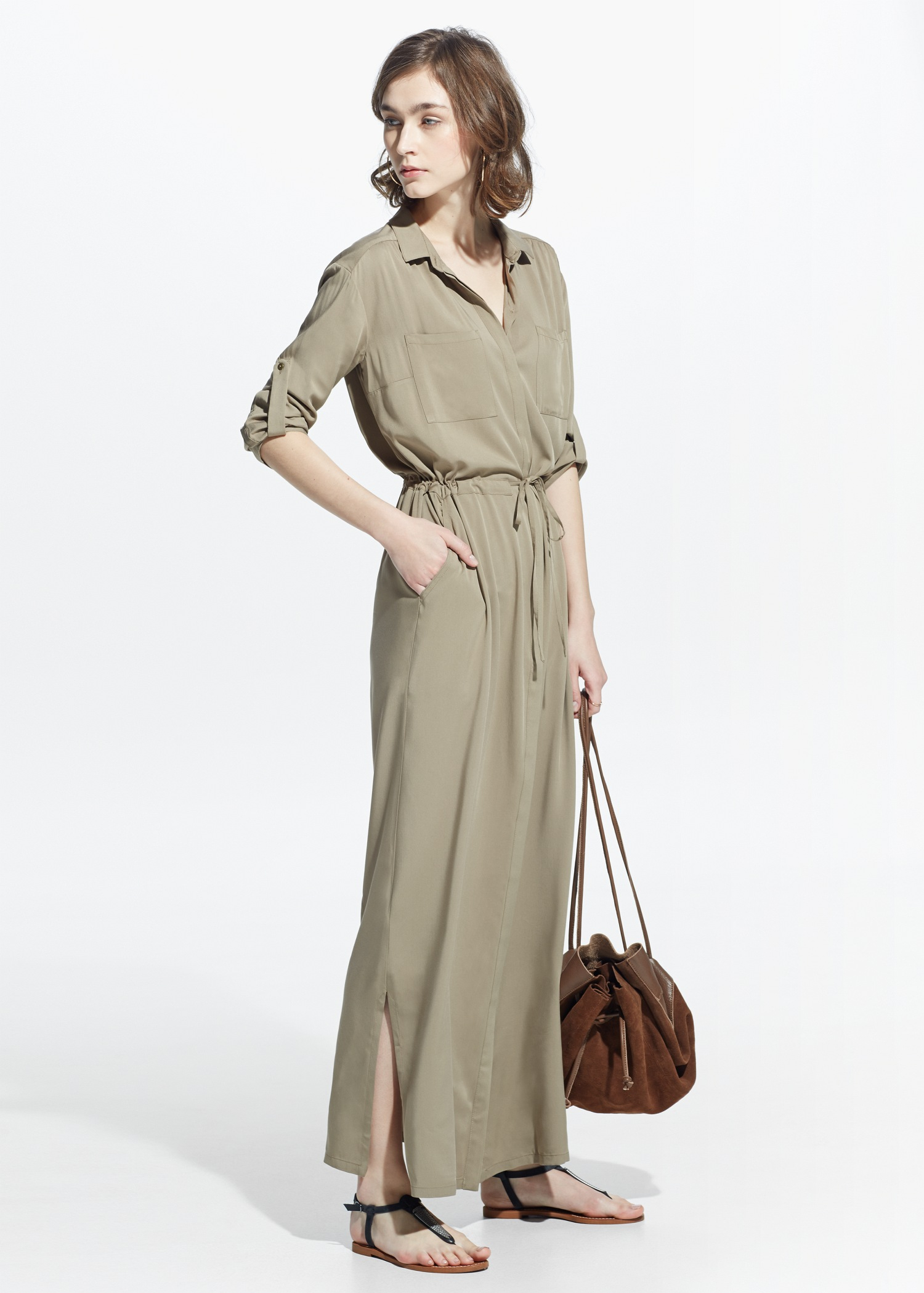 Image result for mango maxi shirt dress