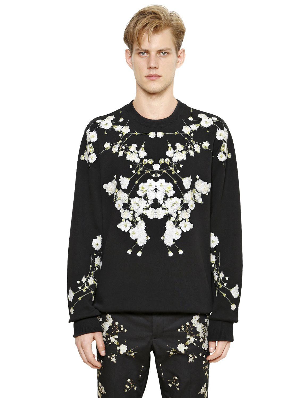 Lyst Givenchy Floral Print Columbian Cotton Sweatshirt