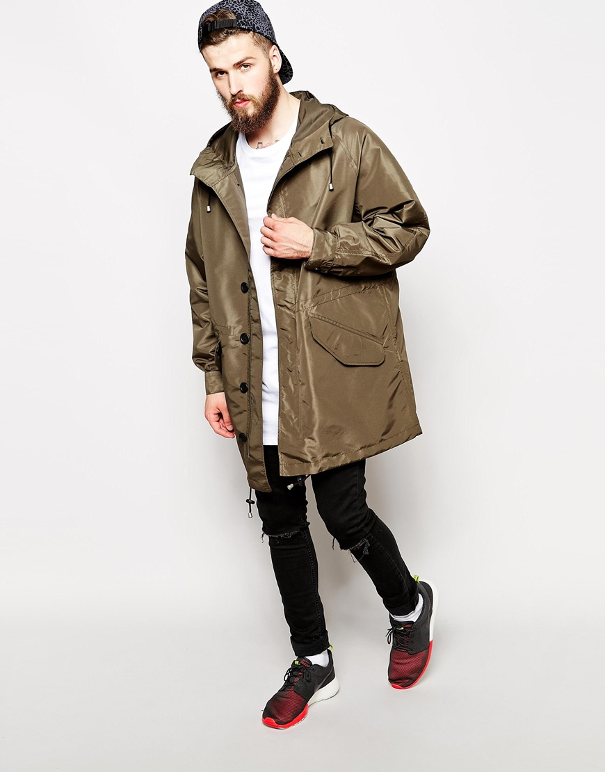 Asos Parka In Oversized Fit in Natural for Men | Lyst