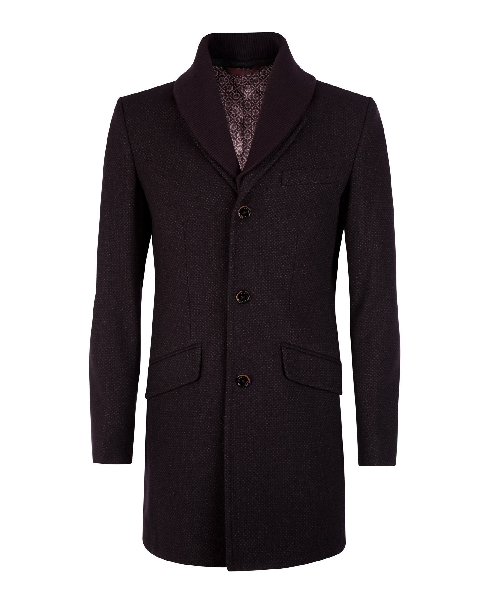 Ted Baker Wool Coat In Red For Men Lyst