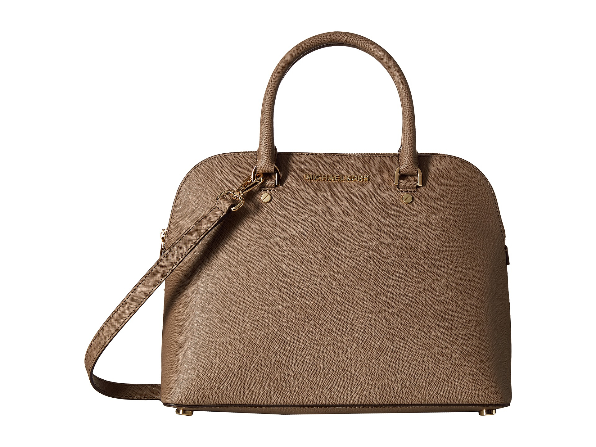 michael michael kors cindy large dome satchel in brown lyst