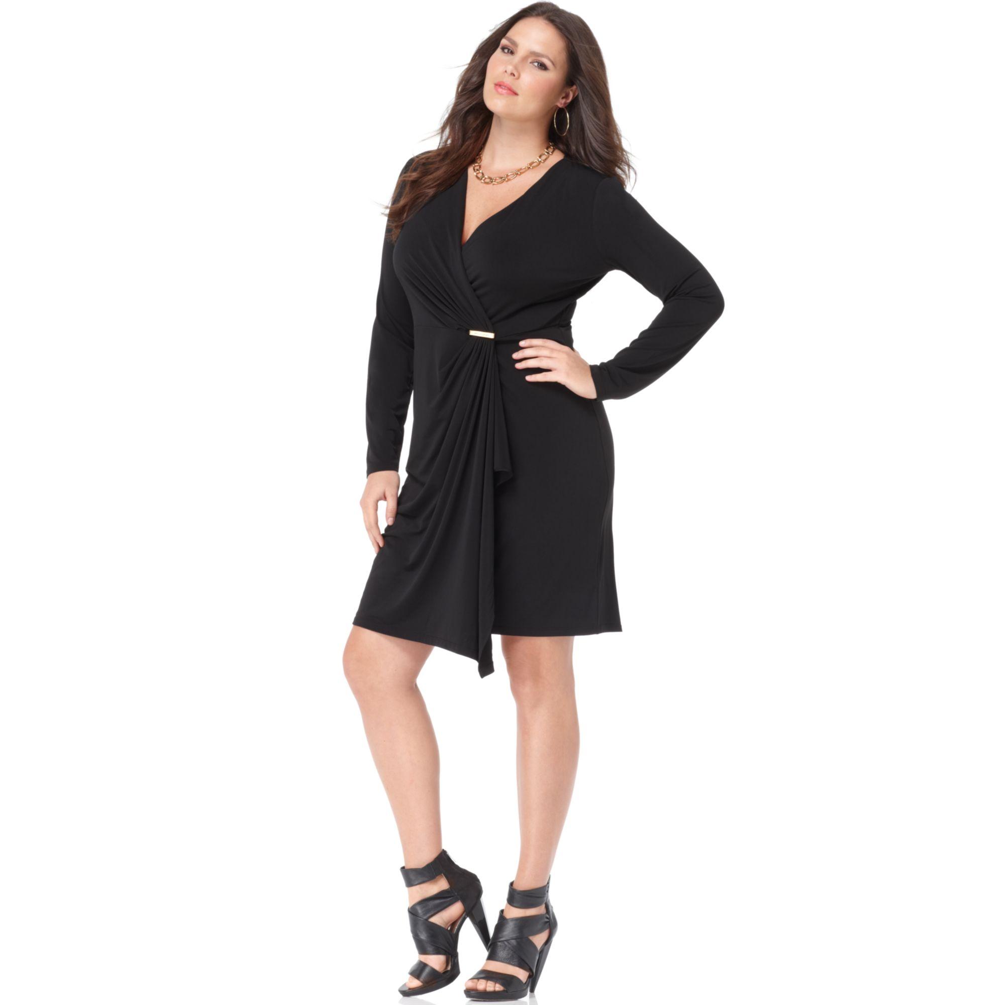0a9b741ee2 Turmec » black long sleeve wrap dress