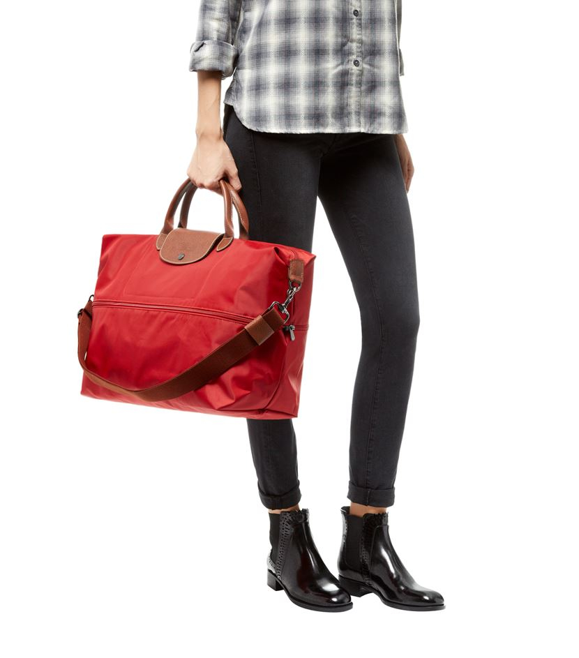 Longchamp Le Pliage Expandable Travel Bag In Red Lyst