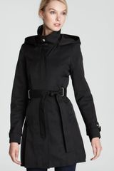 Via Spiga Marcella Belted Trench Coat with Hood - Lyst