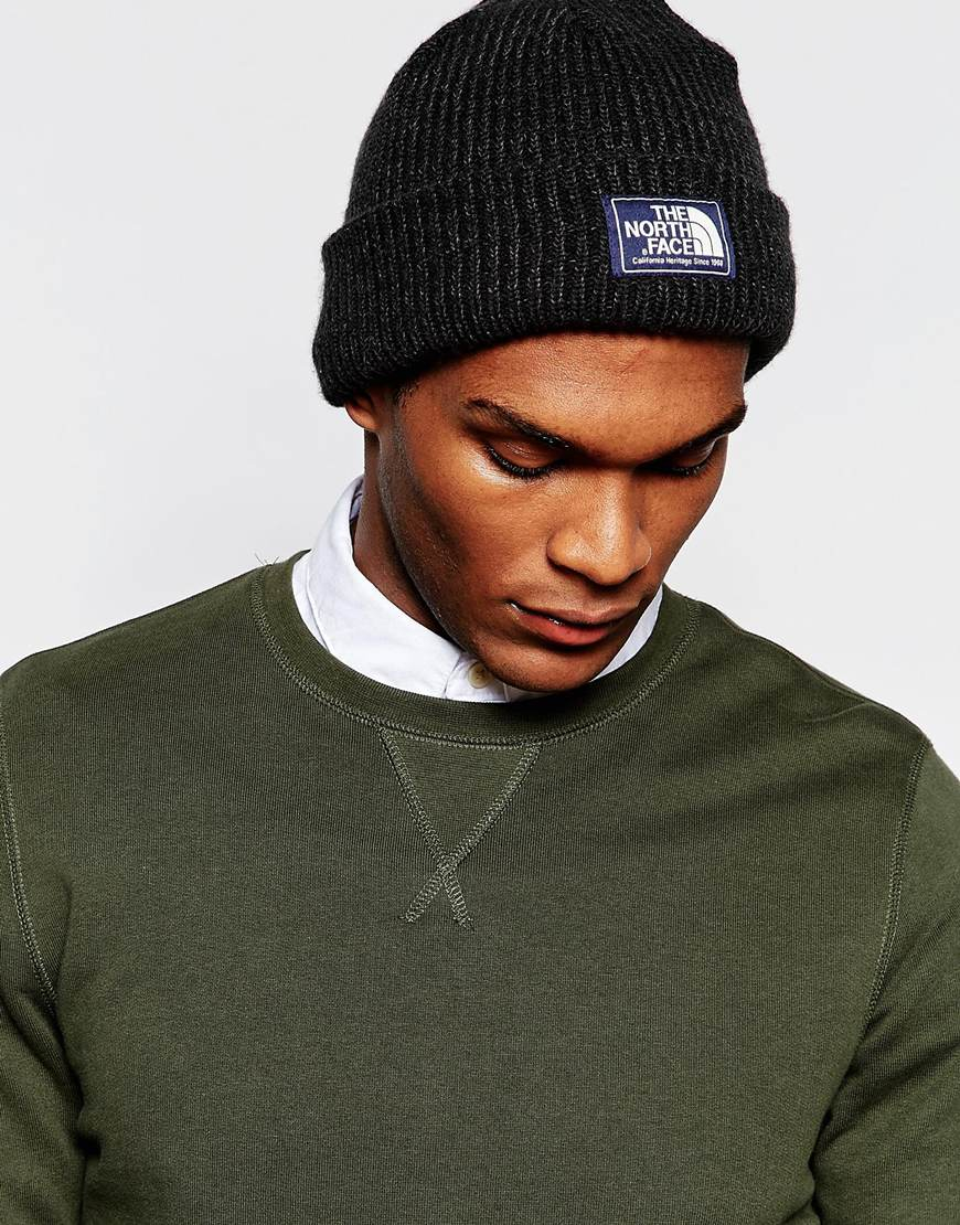 640dcd502b06d0 The North Face Salty Dog Beanie Hat in Black for Men - Lyst