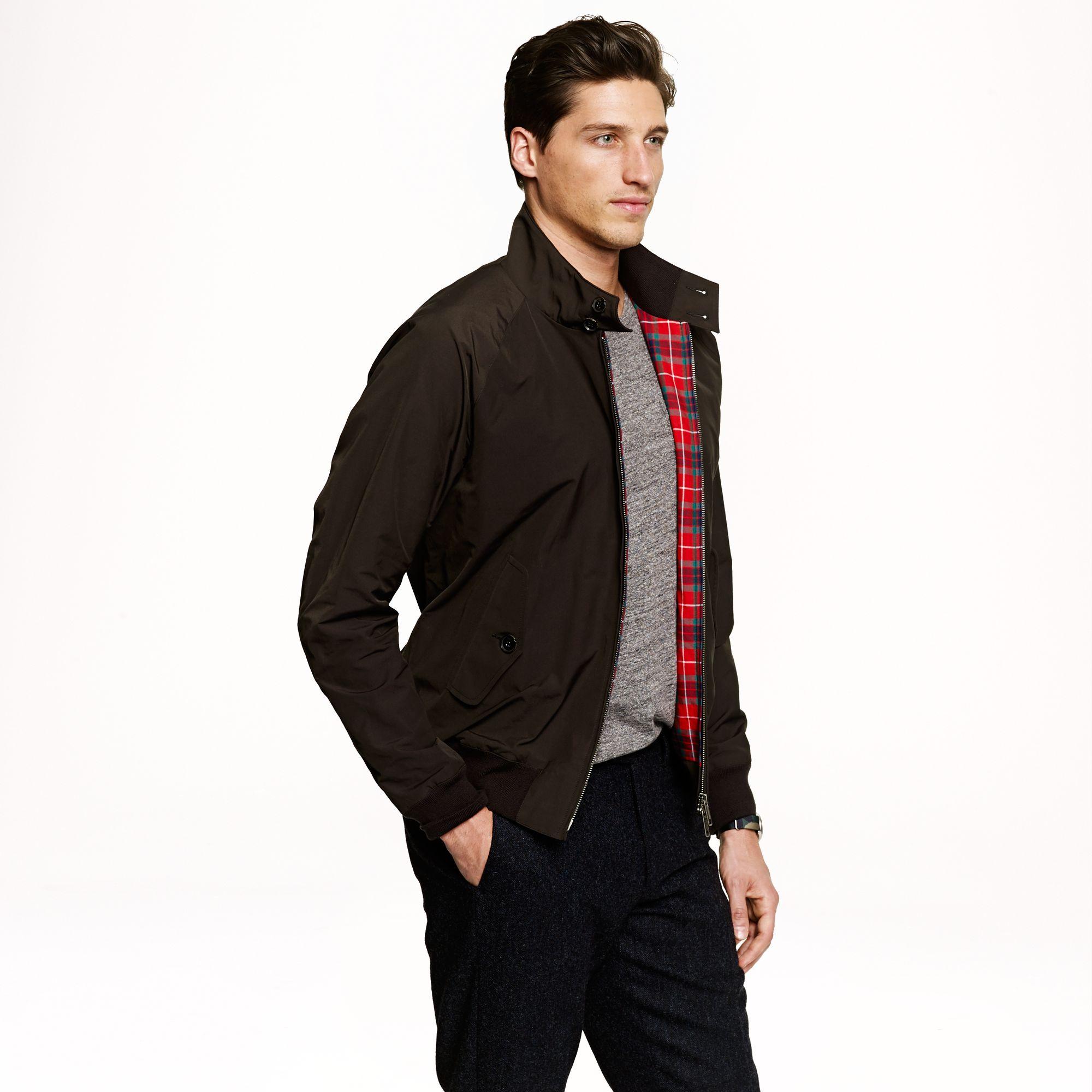 J Crew Baracuta G9 Harrington Jacket In Black For Men