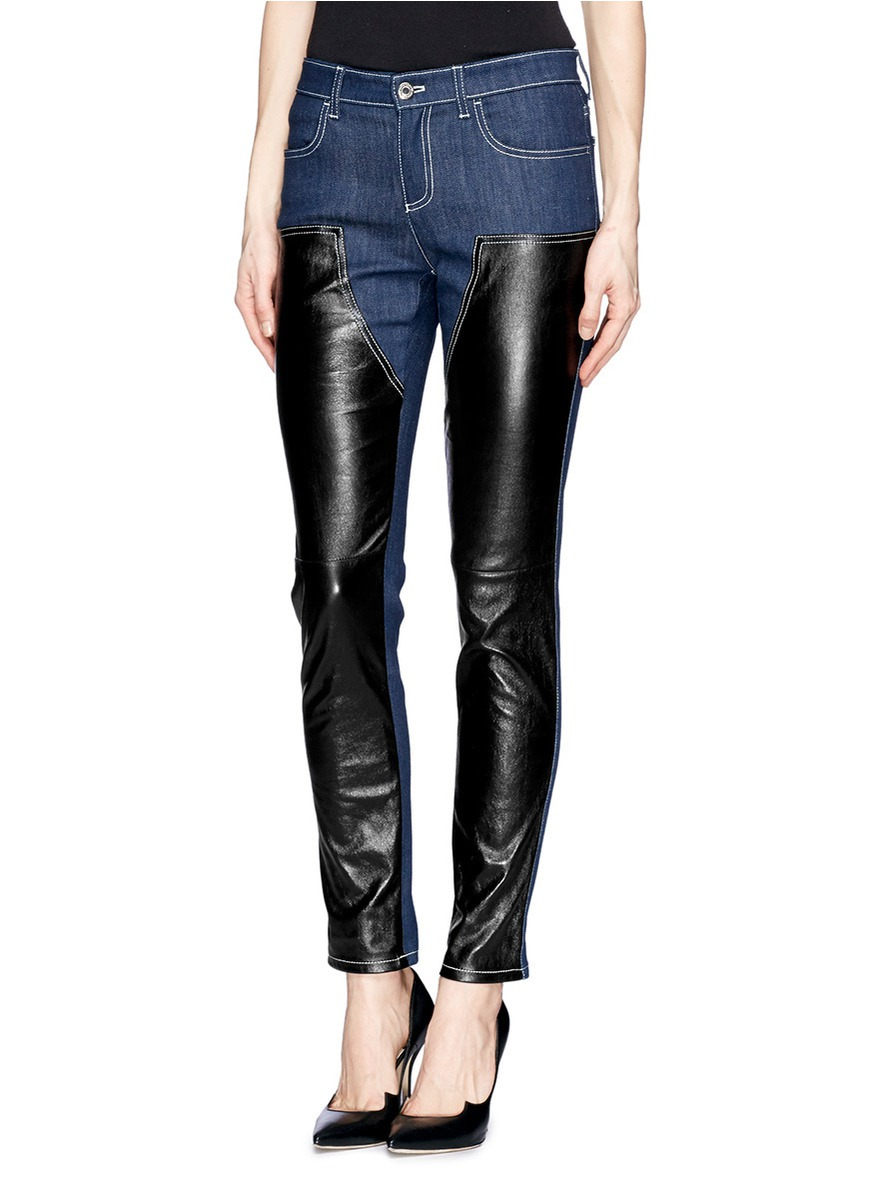 Rta Jackson Leather Flare Pants in Black | Lyst
