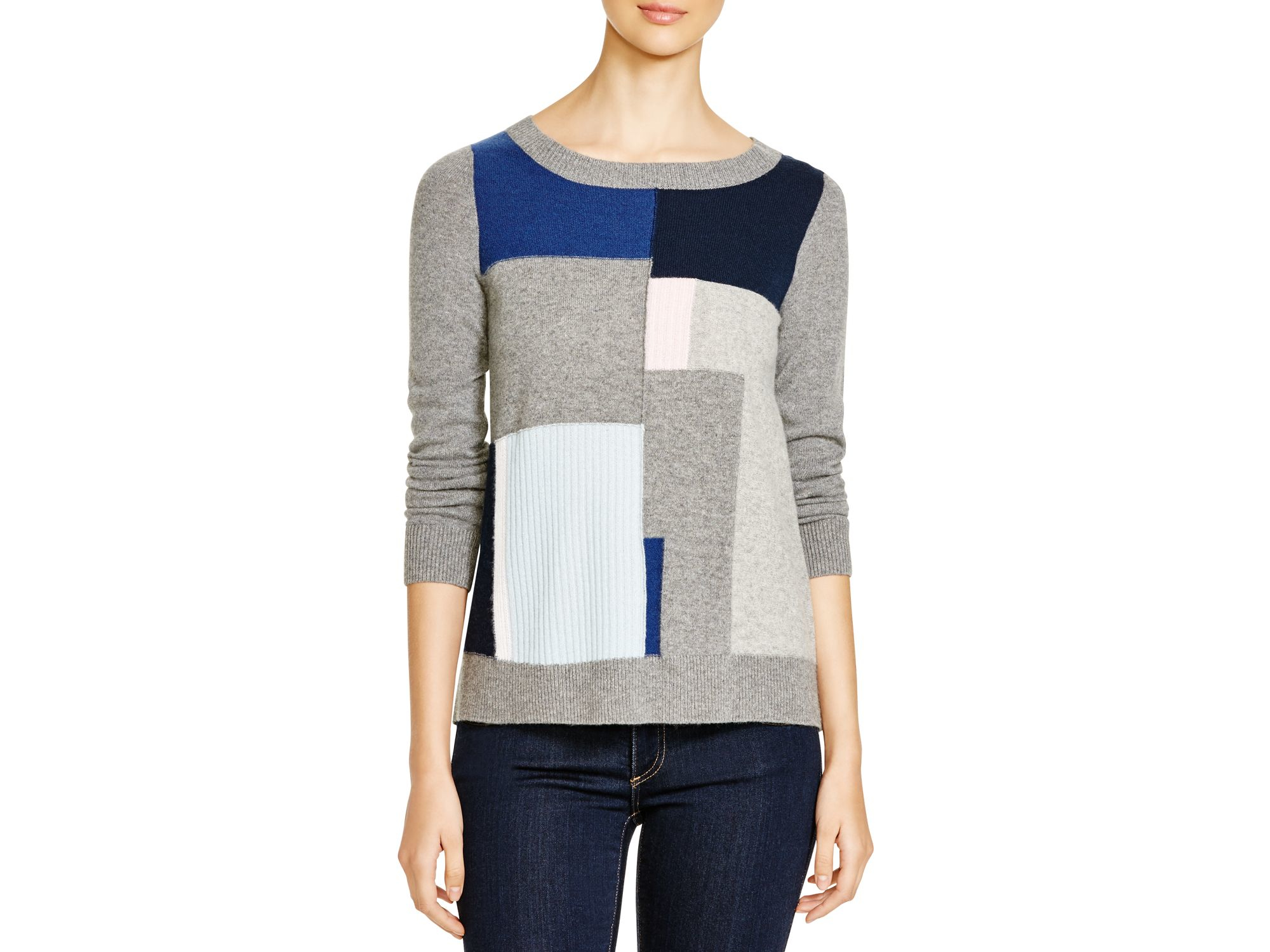 Diane von furstenberg Zandra Block-patterned Cashmere Sweater in ...