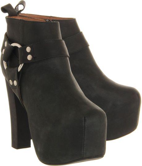 jeffrey campbell lita mojo platform ankle boot in black lyst. Black Bedroom Furniture Sets. Home Design Ideas