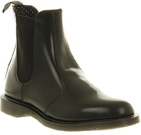 dr martens kensington flora black leather in black lyst. Black Bedroom Furniture Sets. Home Design Ideas