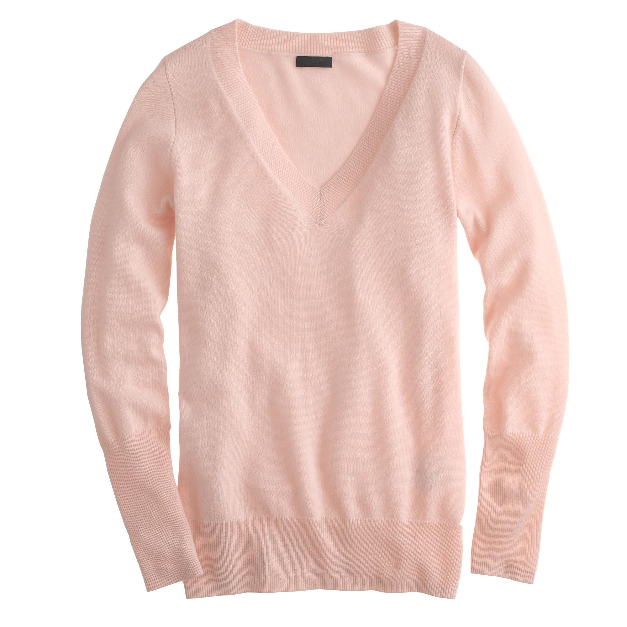 J.crew Italian Cashmere V-neck Sweater in Pink | Lyst