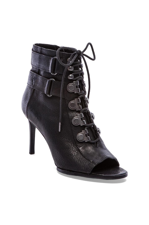 Lyst Luxury Rebel Cara Lace Up Open Toe Booties In Black