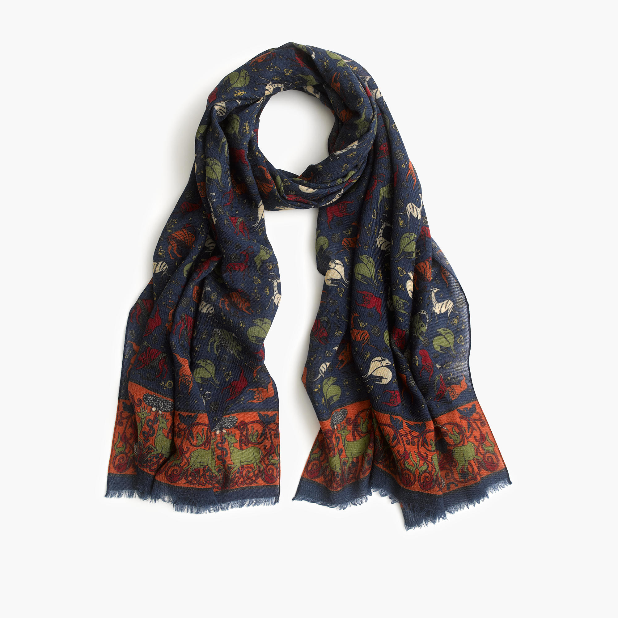 s predators and prey scarf in blue for lyst