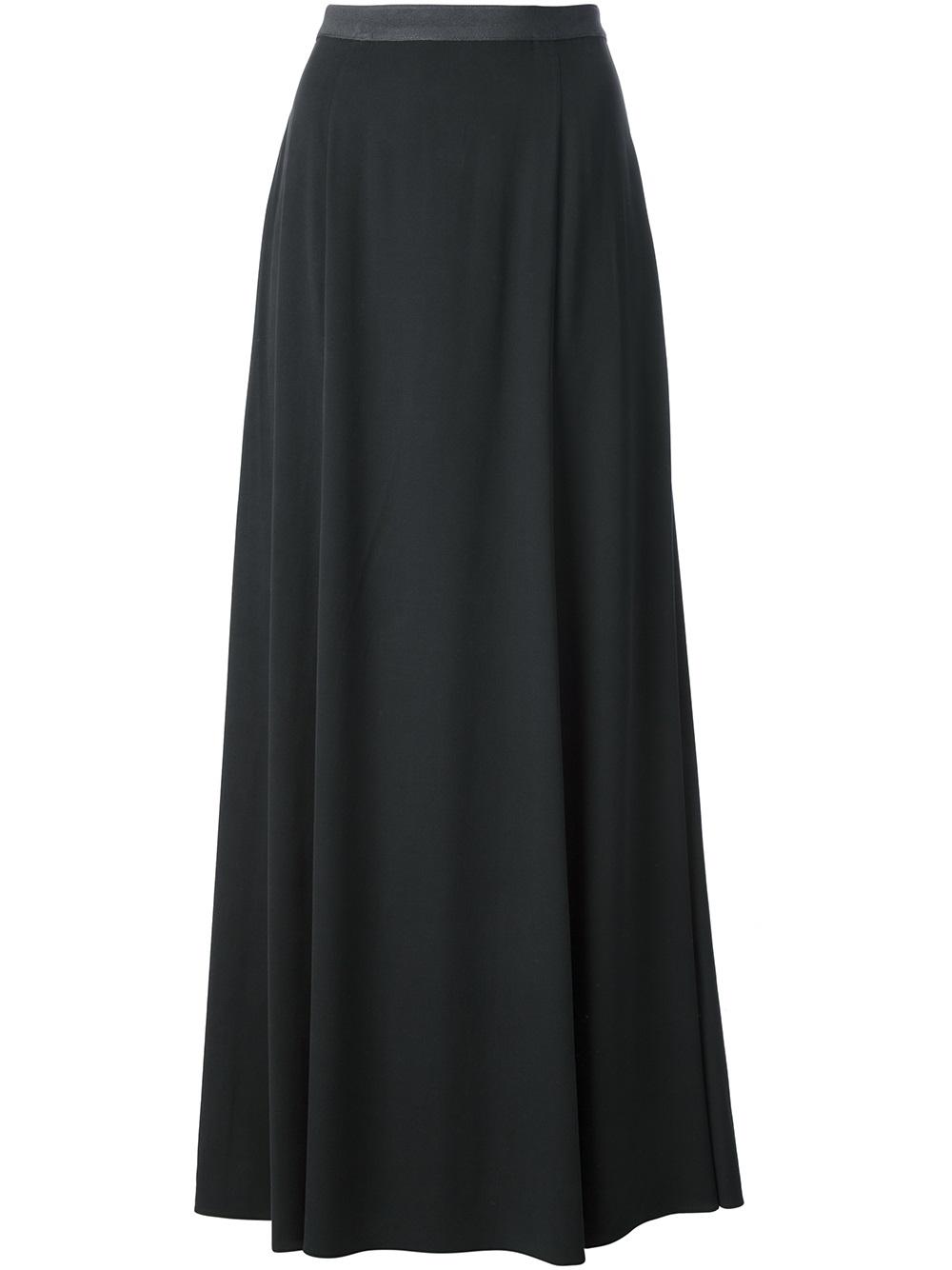 theyskens theory maxi skirt in gray grey lyst