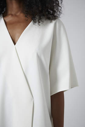 Topshop Kimono Wrap Front Dress By Boutique in White - Lyst