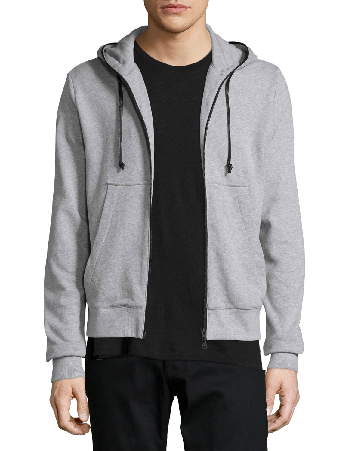 lyst hudson jeans reed inversion hoodie in gray for men. Black Bedroom Furniture Sets. Home Design Ideas