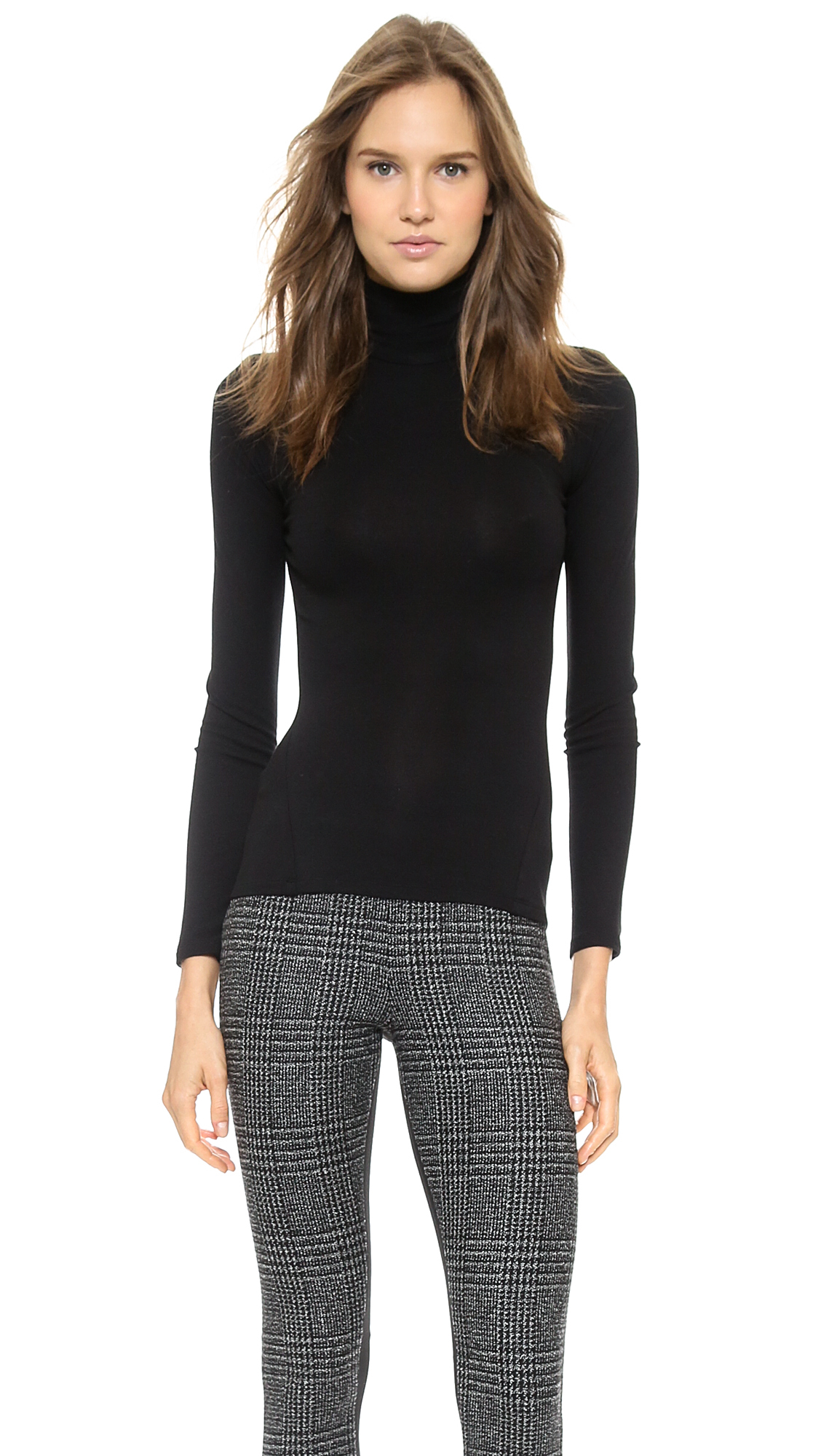 Donna karan new york turtleneck with cutout back black for Donna karen new york