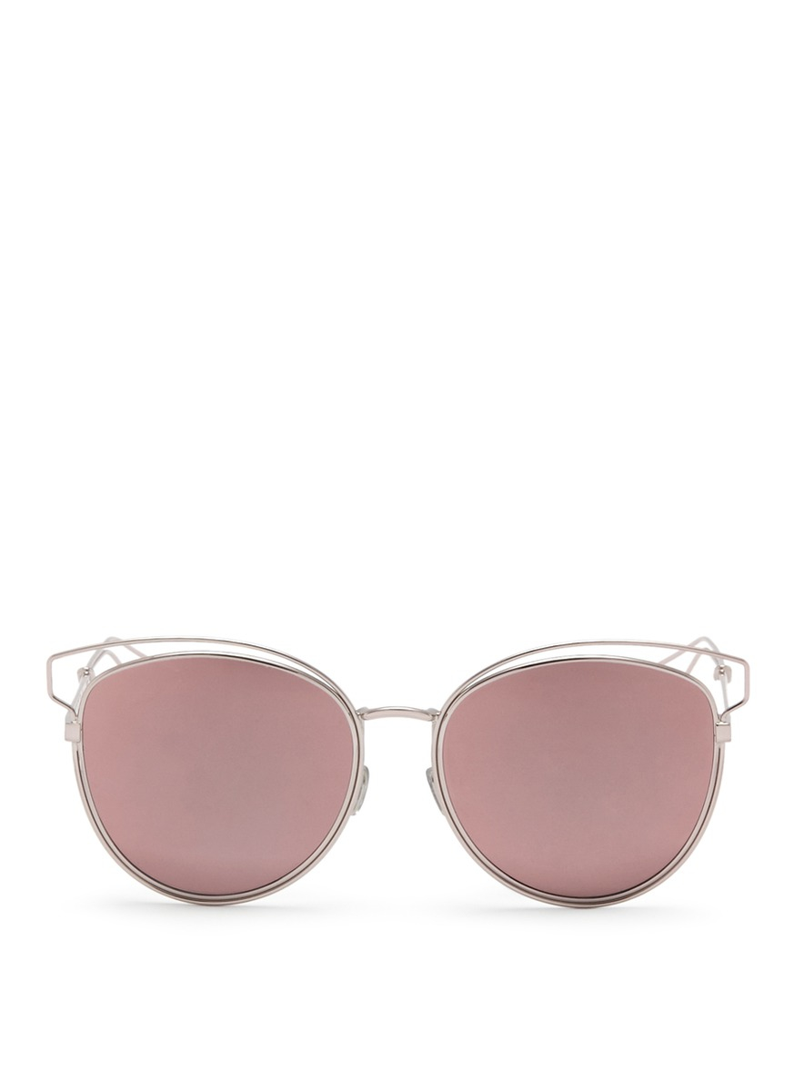 d4e3e015ee0 Dior  sideral 2  Wire Outline Temple Metal Sunglasses in Pink - Lyst