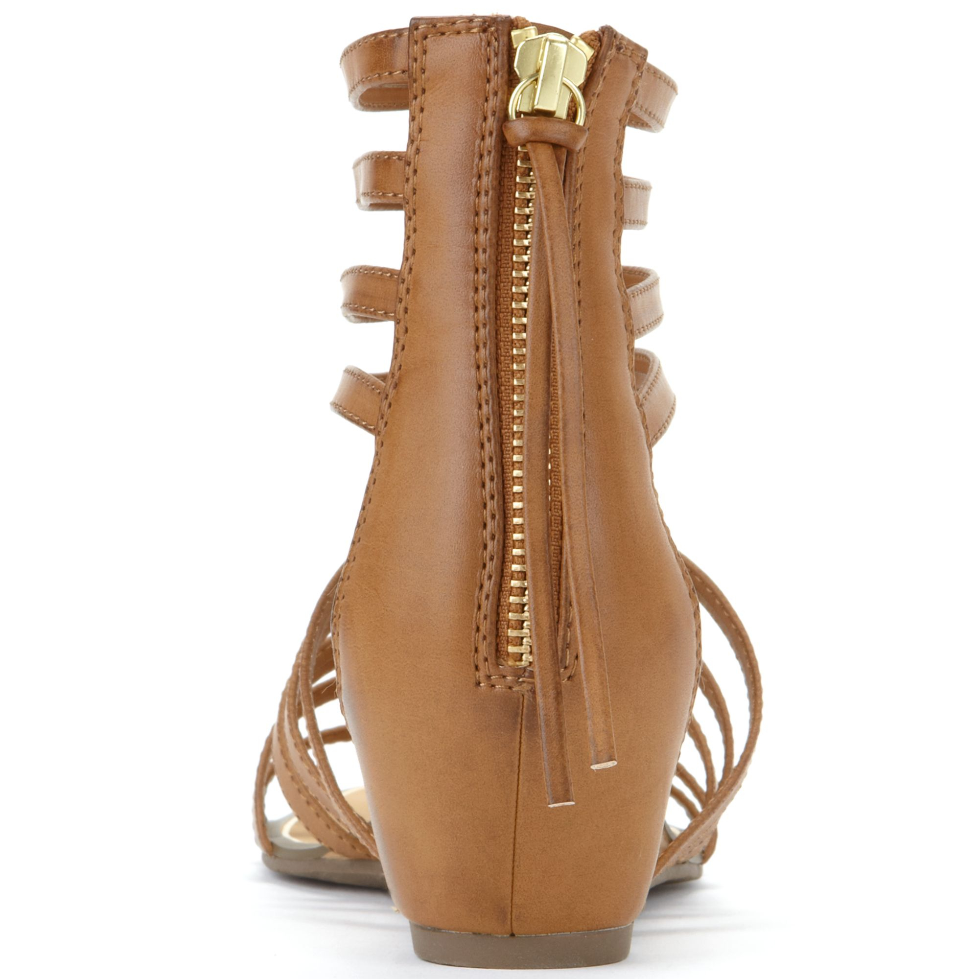 Report Megan Gladiator Wedge Sandals In Brown Lyst