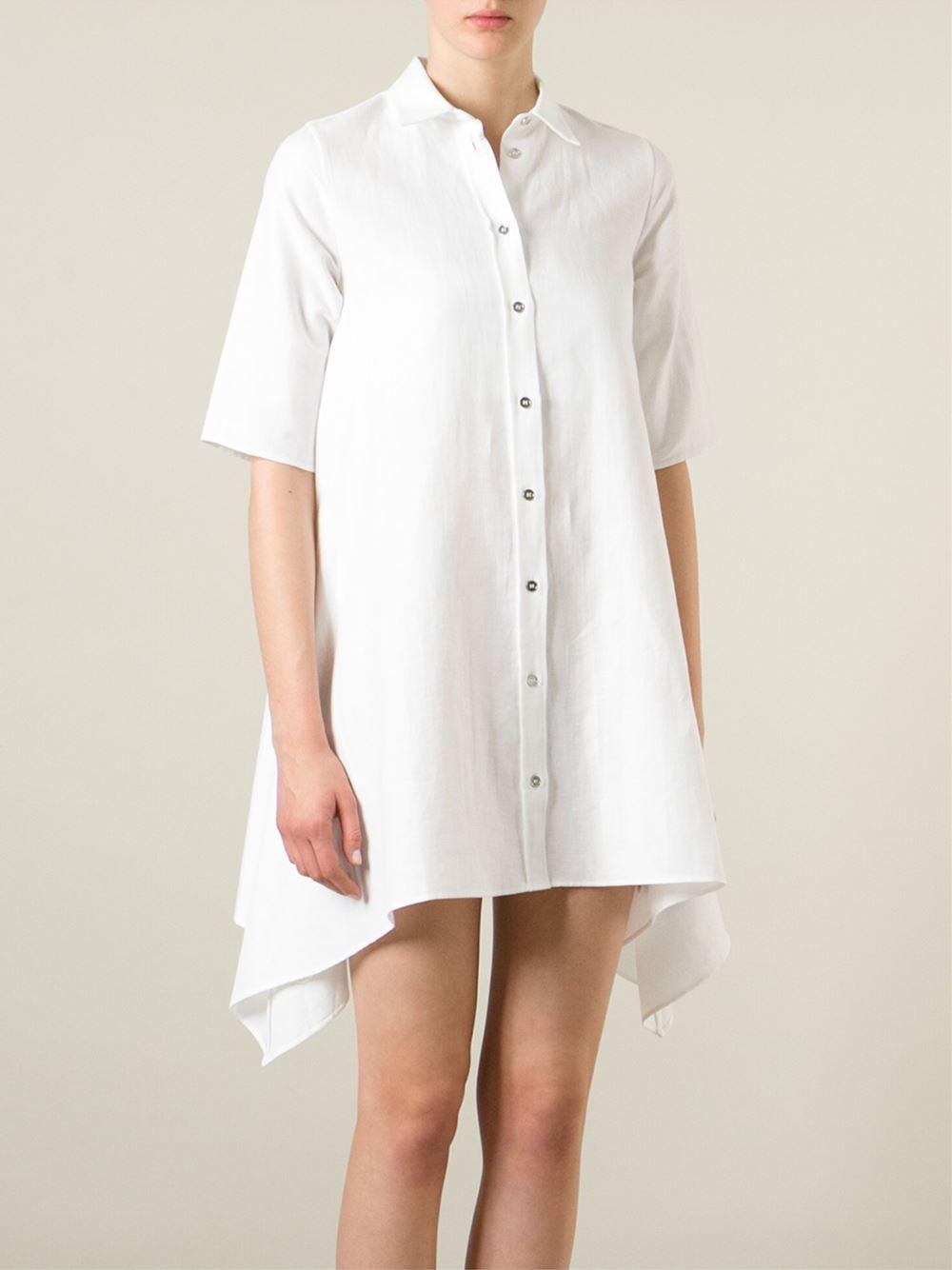 Mm6 By Maison Martin Margiela Button Up Shirt Dress In
