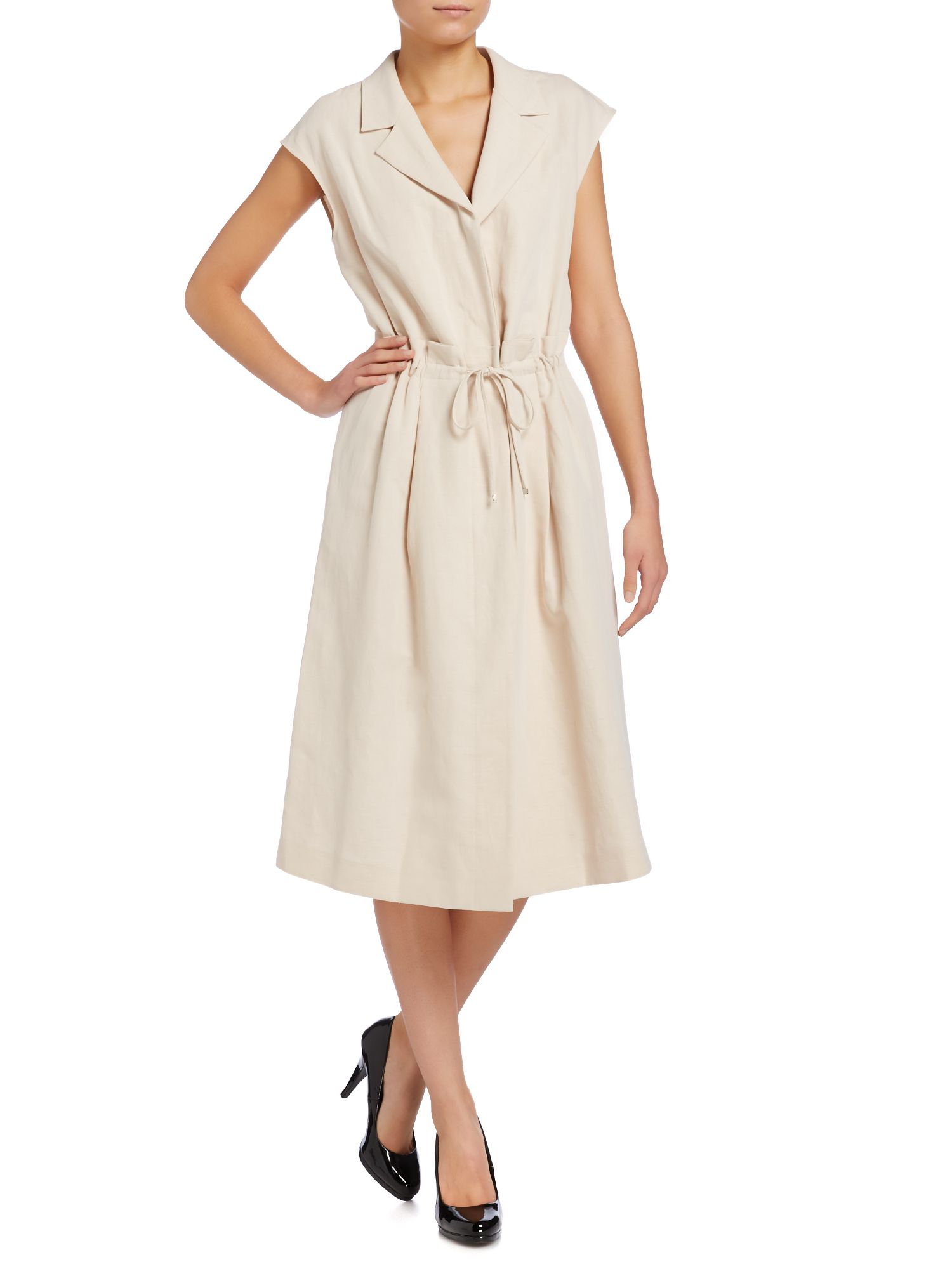 max mara fabio linen shirt dress in white lyst