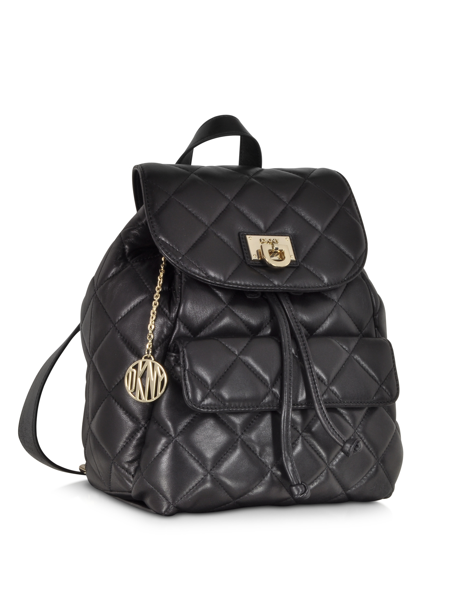 Dkny Gansevoort Black Quilted Nappa Leather Backpack in Black | Lyst : quilted leather rucksack - Adamdwight.com