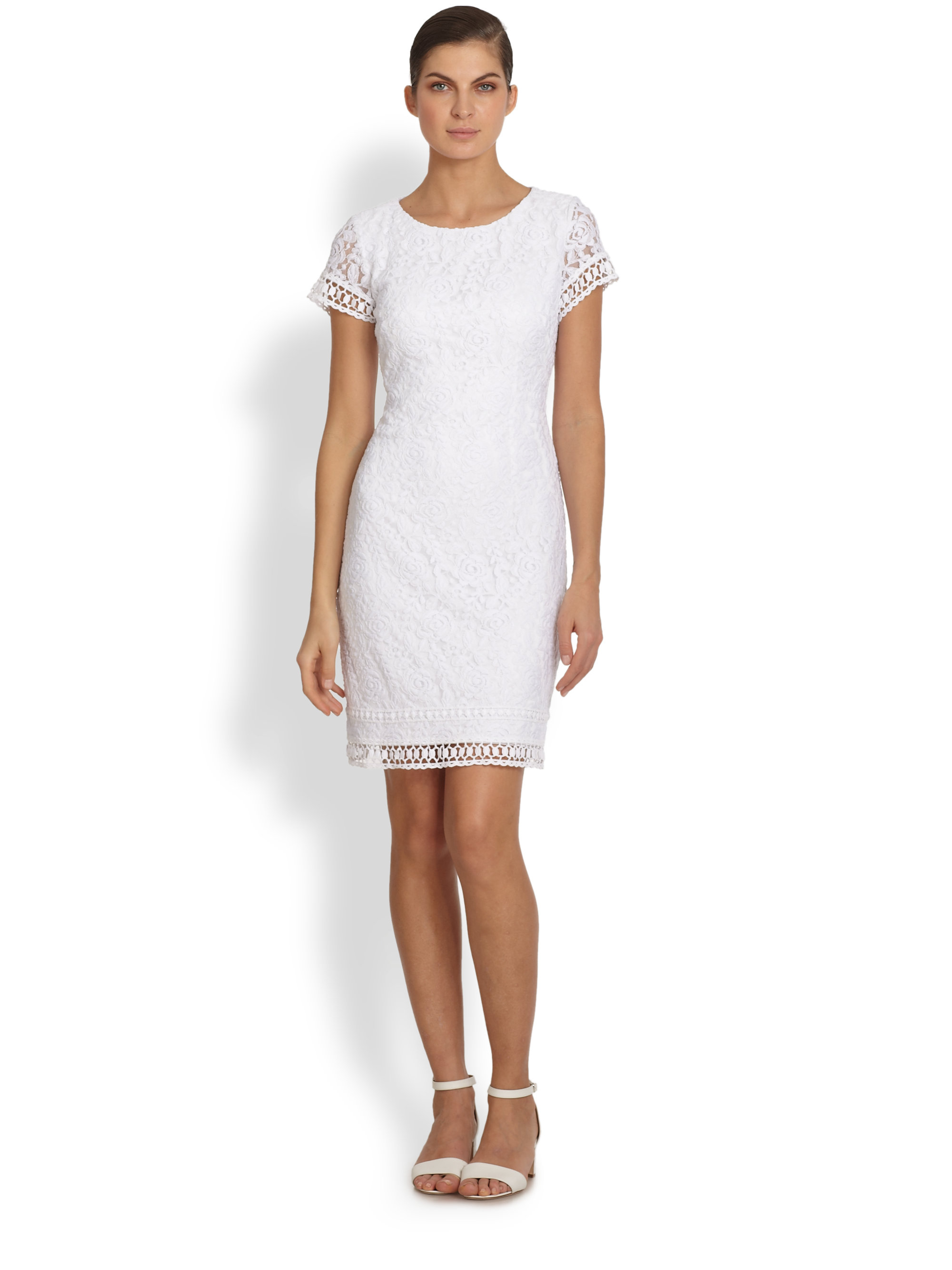 4805716c01ef Gallery. Previously sold at: Saks Fifth Avenue · Women's White Cocktail  Dresses