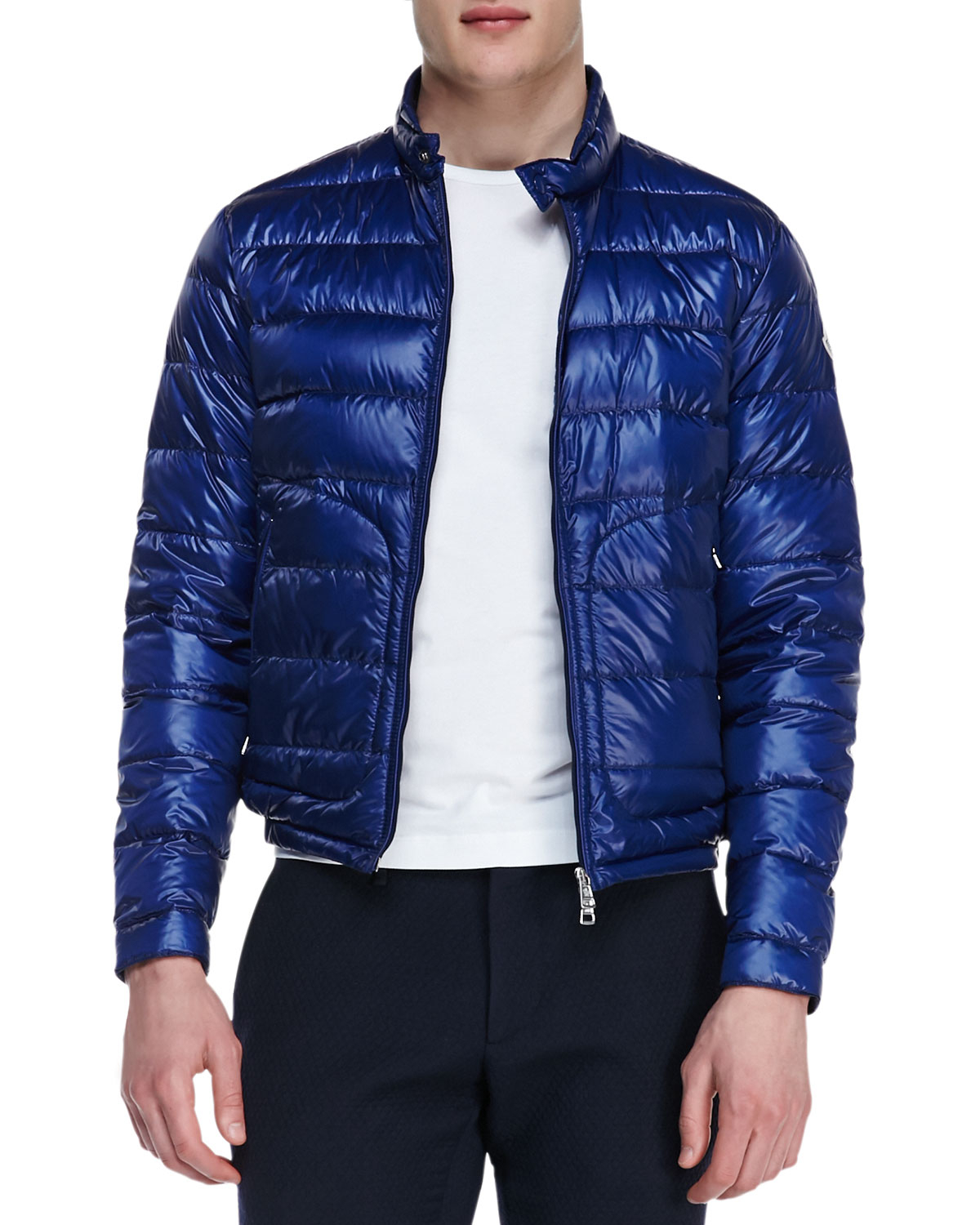 Moncler Acorus Lightweight Puffer Jacket Blue in Blue for Men | Lyst