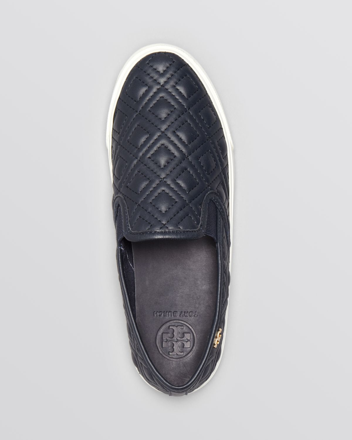 dd4032e1a8f5 Lyst - Tory Burch Flat Slip On Sneakers Jesse Quilted in Blue