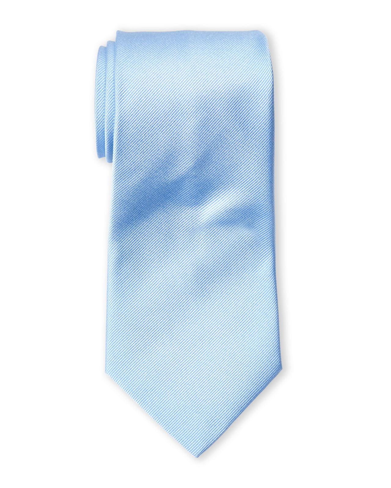 valentino light blue silk tie in blue for light blue