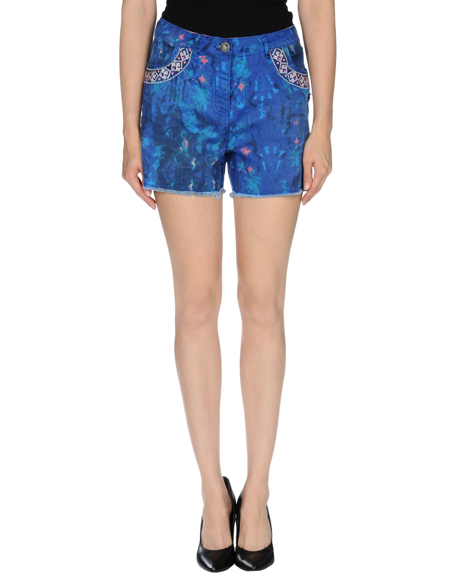 Maison scotch denim shorts in blue lyst for About maison scotch