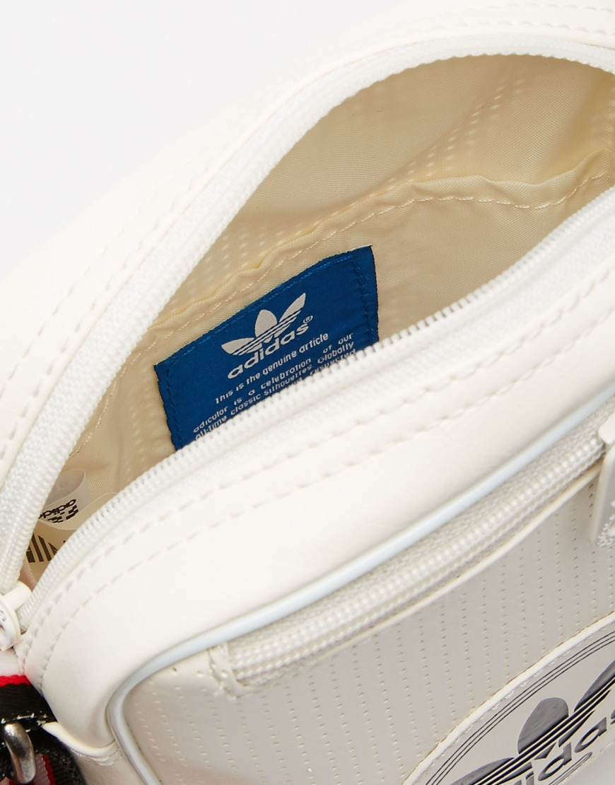1b72121fdba9 Lyst - adidas Originals Perforated Flight Bag in Gray for Men