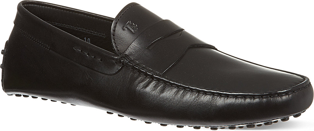tod s gommino driving shoes in leather in black for lyst