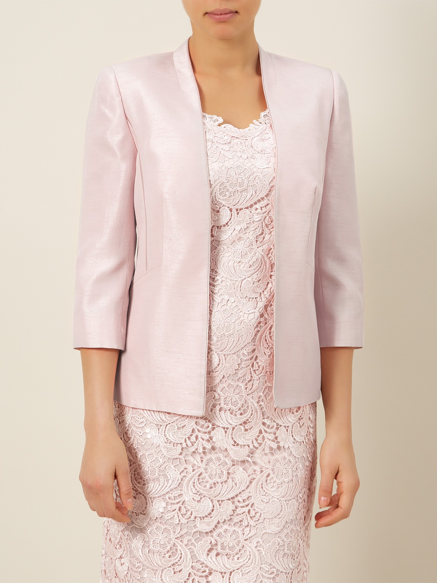 Jacques Vert Edge To Edge Jacket In Pink Lyst