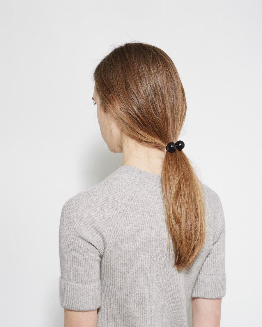 saskia diez wood hair tie in black lyst. Black Bedroom Furniture Sets. Home Design Ideas