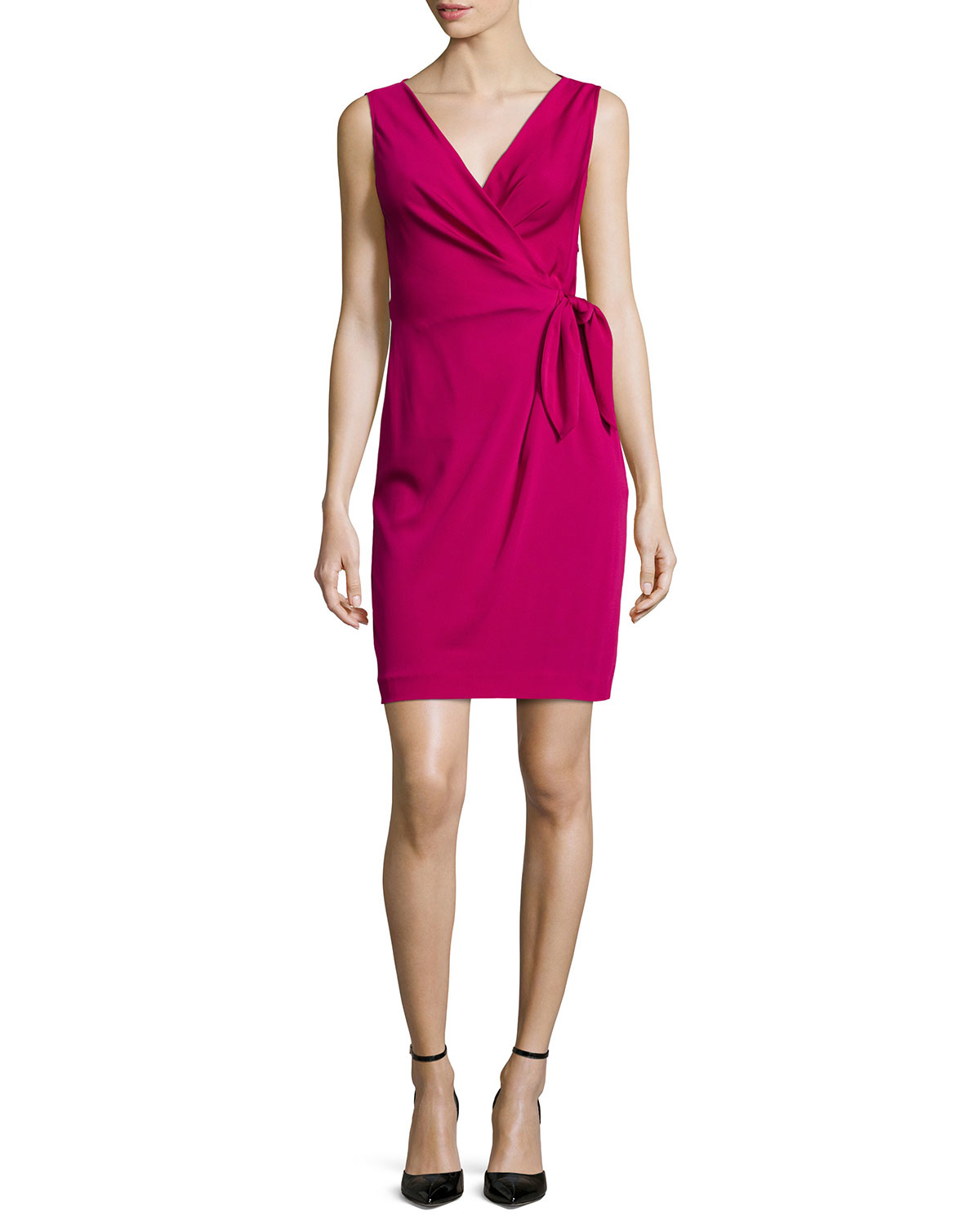 Diane von furstenberg sleeveless bella wrap dress in for Diane von furstenberg clothes