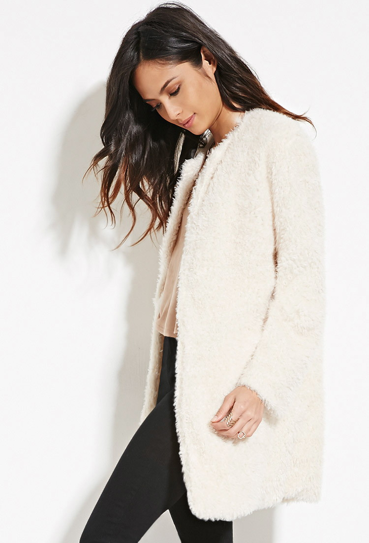Forever 21 Faux Fur Longline Jacket You've Been Added To The ...