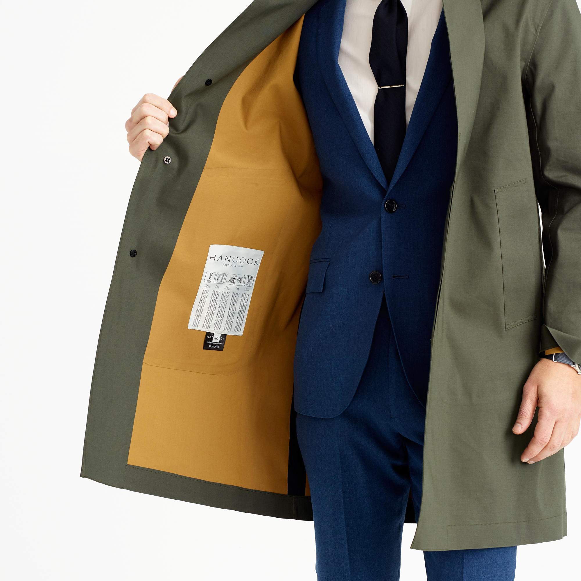 Hancock Article 41 Raincoat in Green for Men