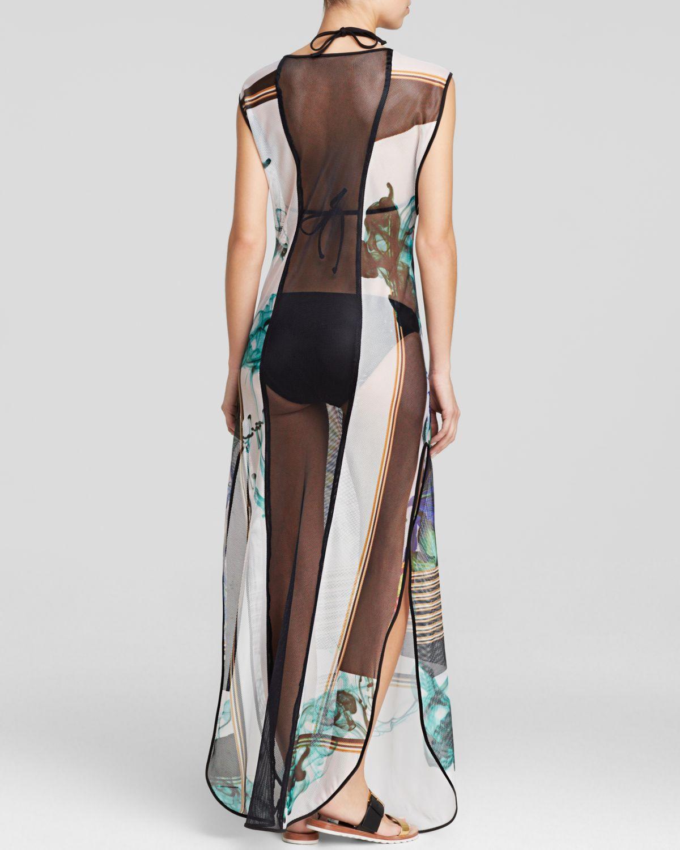 c030b7455629b Clover Canyon Liquid Jade Mesh Maxi Dress Swim Cover Up - Lyst