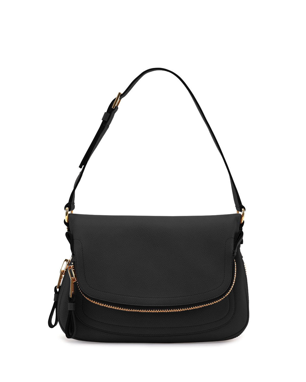 97bdc8bd4e2e Lyst - Tom Ford Jennifer Small Calfskin Shoulder Bag in Black