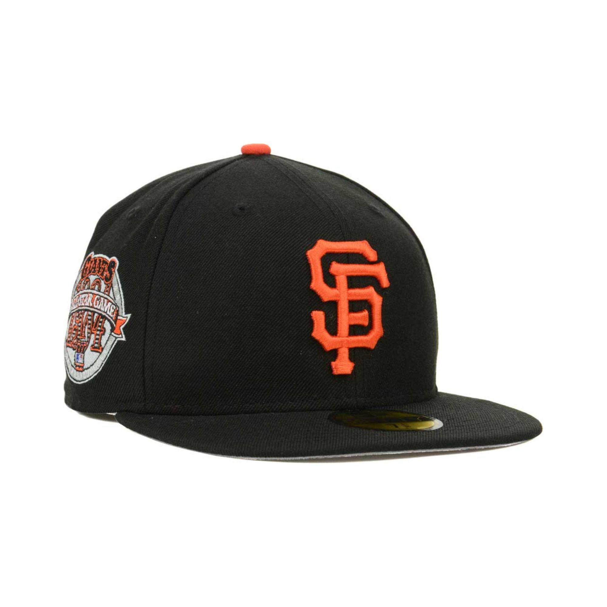 quality design 01b9e 4b109 KTZ San Francisco Giants Allstar Patch Redux 59fifty Cap in Black ...