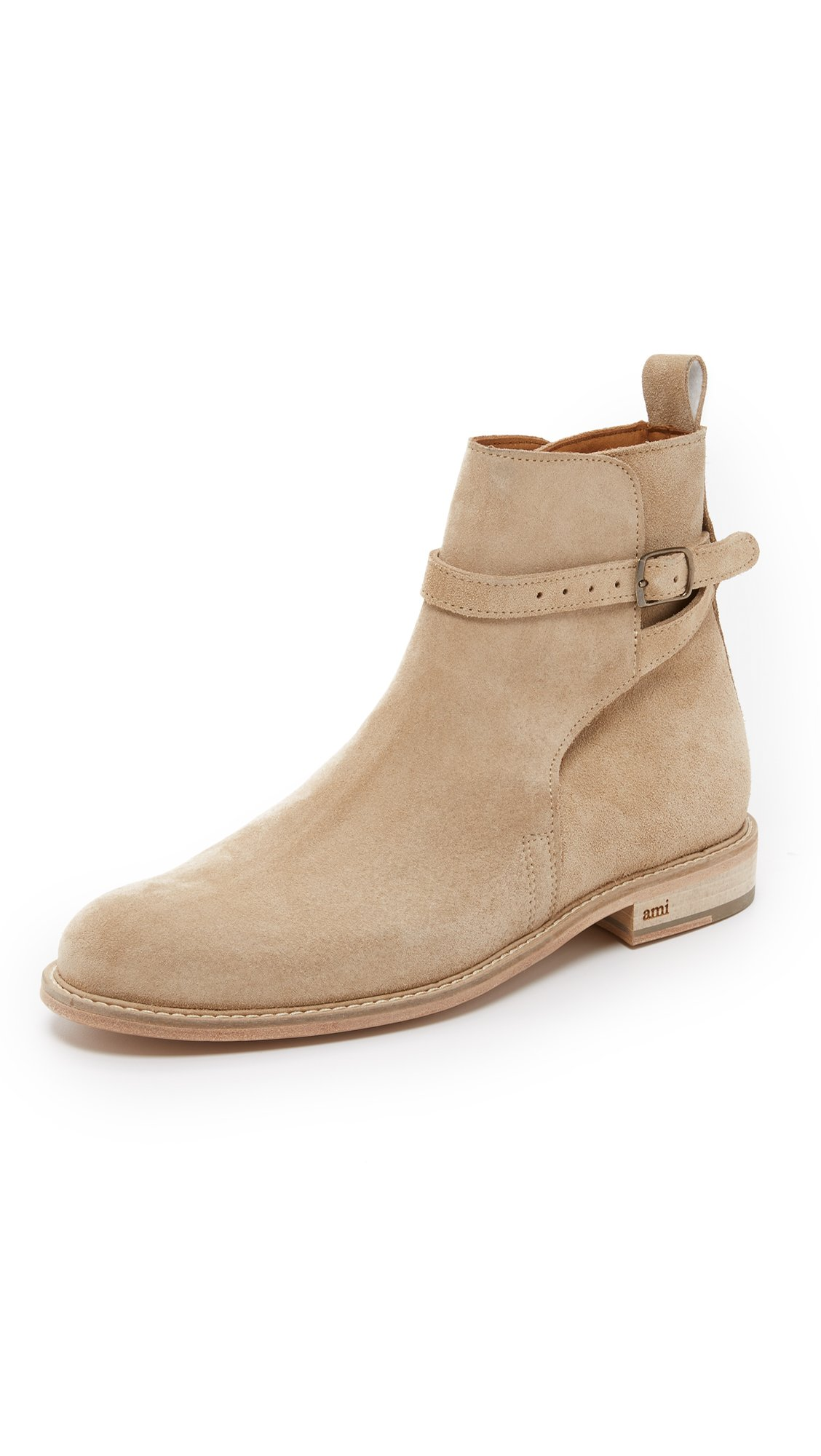 Lyst Ami Buckle Boots In Natural For Men