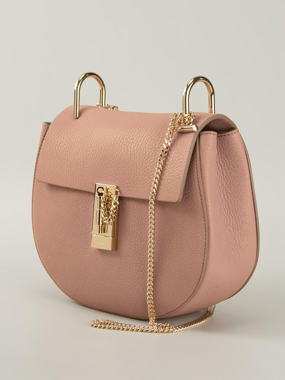 chloe replica shoes - Chlo�� Drew Shoulder Bag in Pink (pink & purple) | Lyst