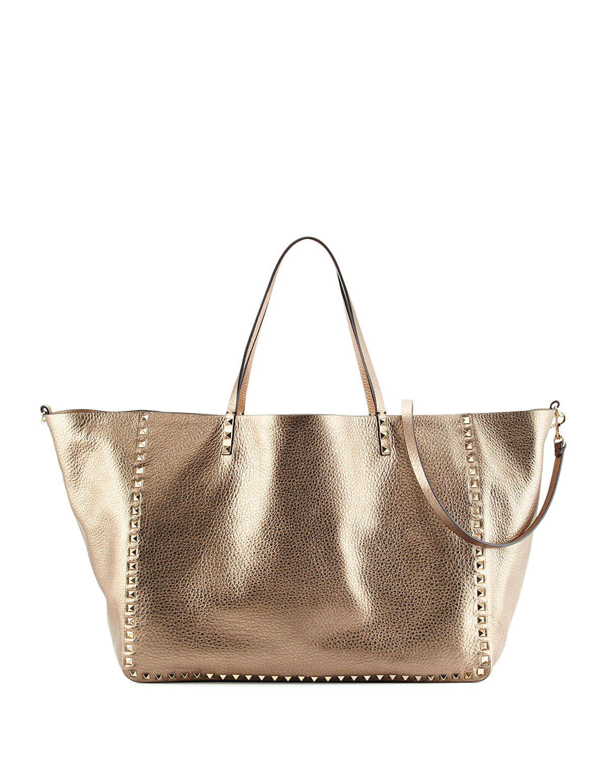 Valentino Rockstud Metallic Large Tote Bag in Metallic | Lyst