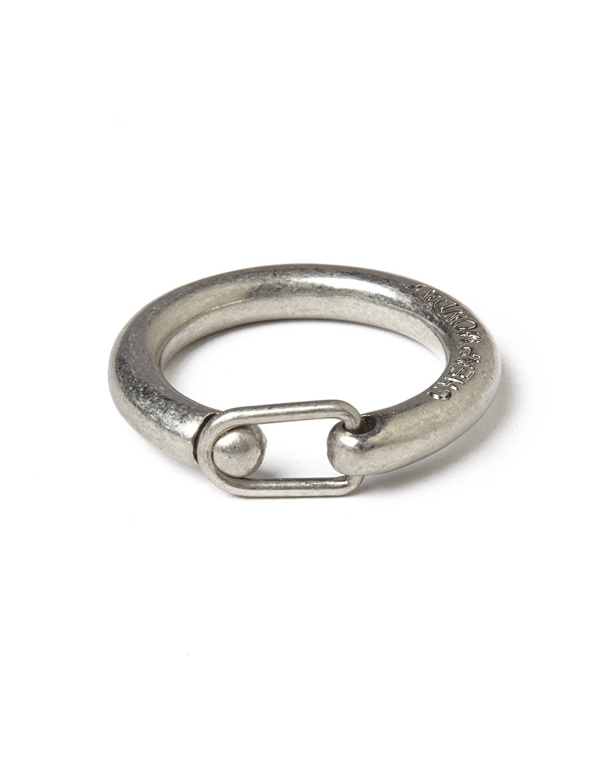 cheap monday clasp ring silver in metallic for lyst