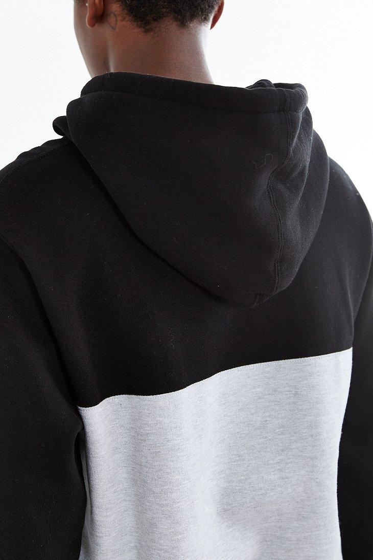 obey west pullover hooded sweatshirt in black for men lyst. Black Bedroom Furniture Sets. Home Design Ideas