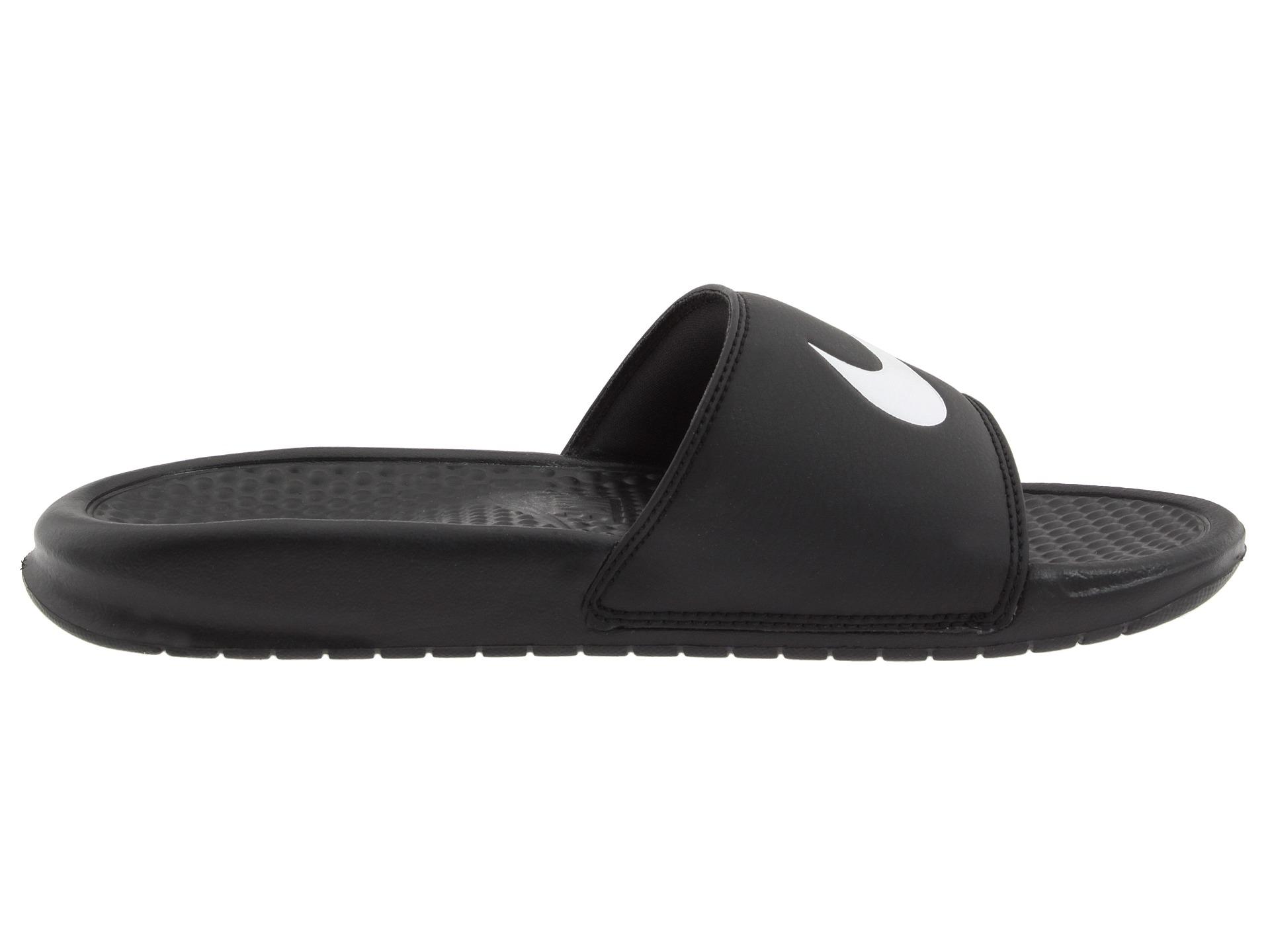 Nike Benassi Swoosh in Black for Men (Black/White) | Lyst