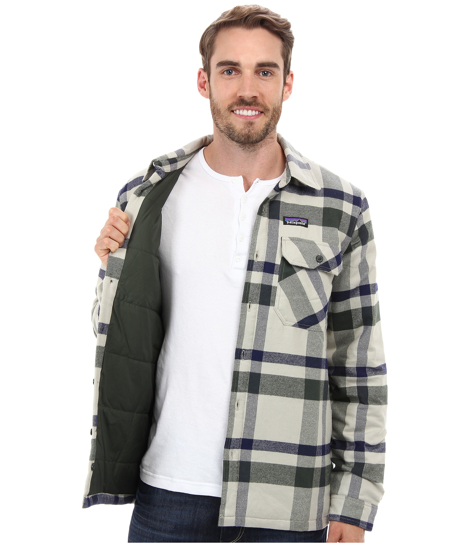 6359738efd7 Lyst - Patagonia Insulated Fjord Flannel Jacket in Gray for Men