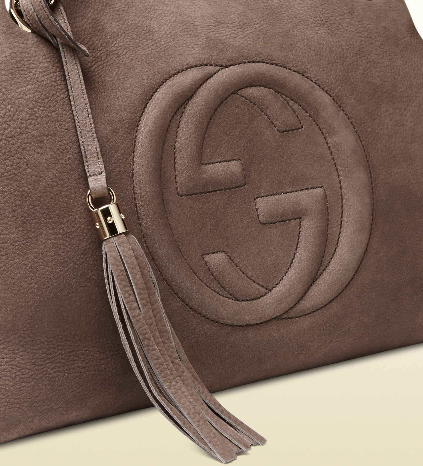 0627680485 Gucci Soho Nubuck Leather Shoulder Bag in Gray - Lyst