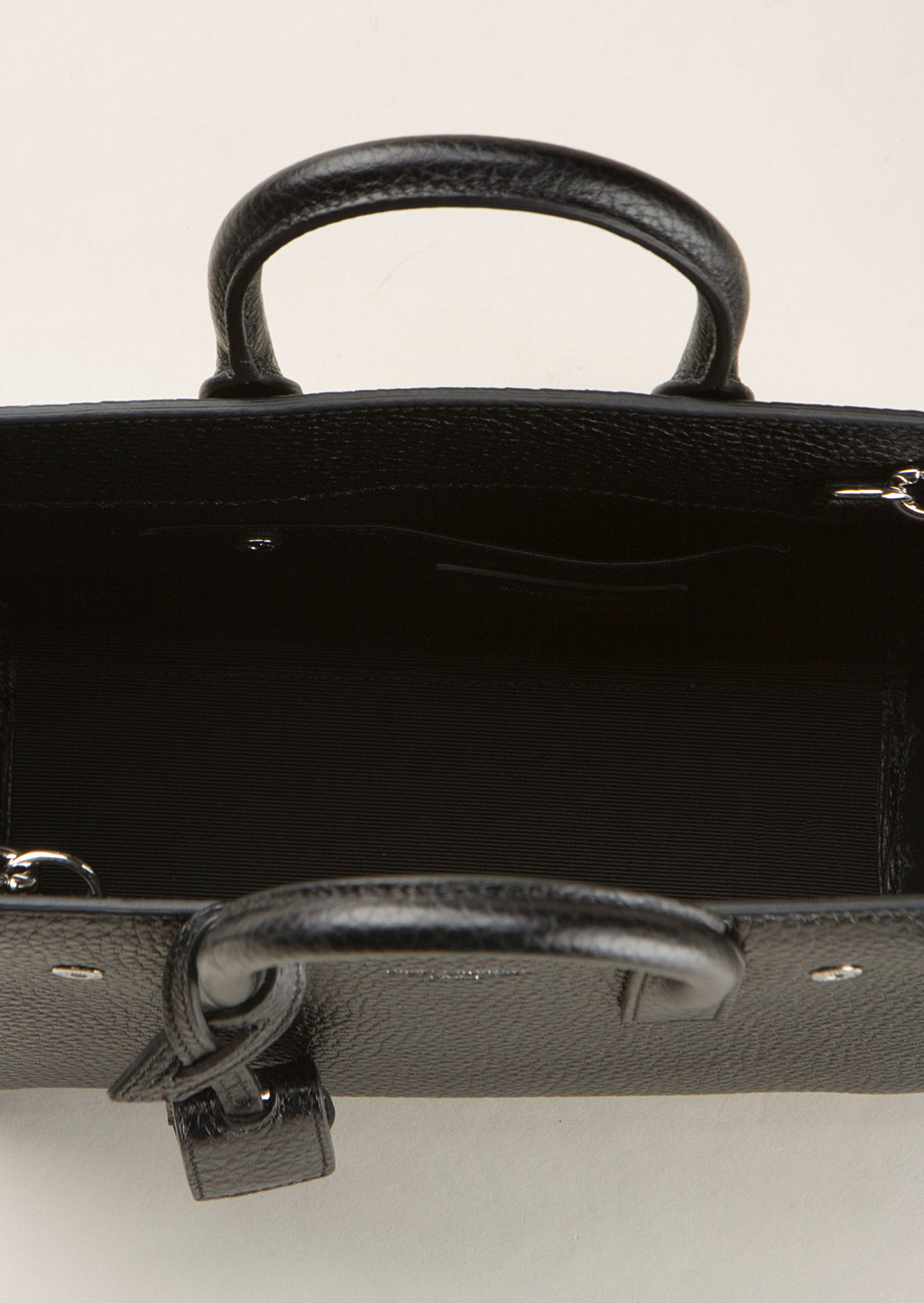 Classic Nano Sac De Jour Bag In Fog Leather